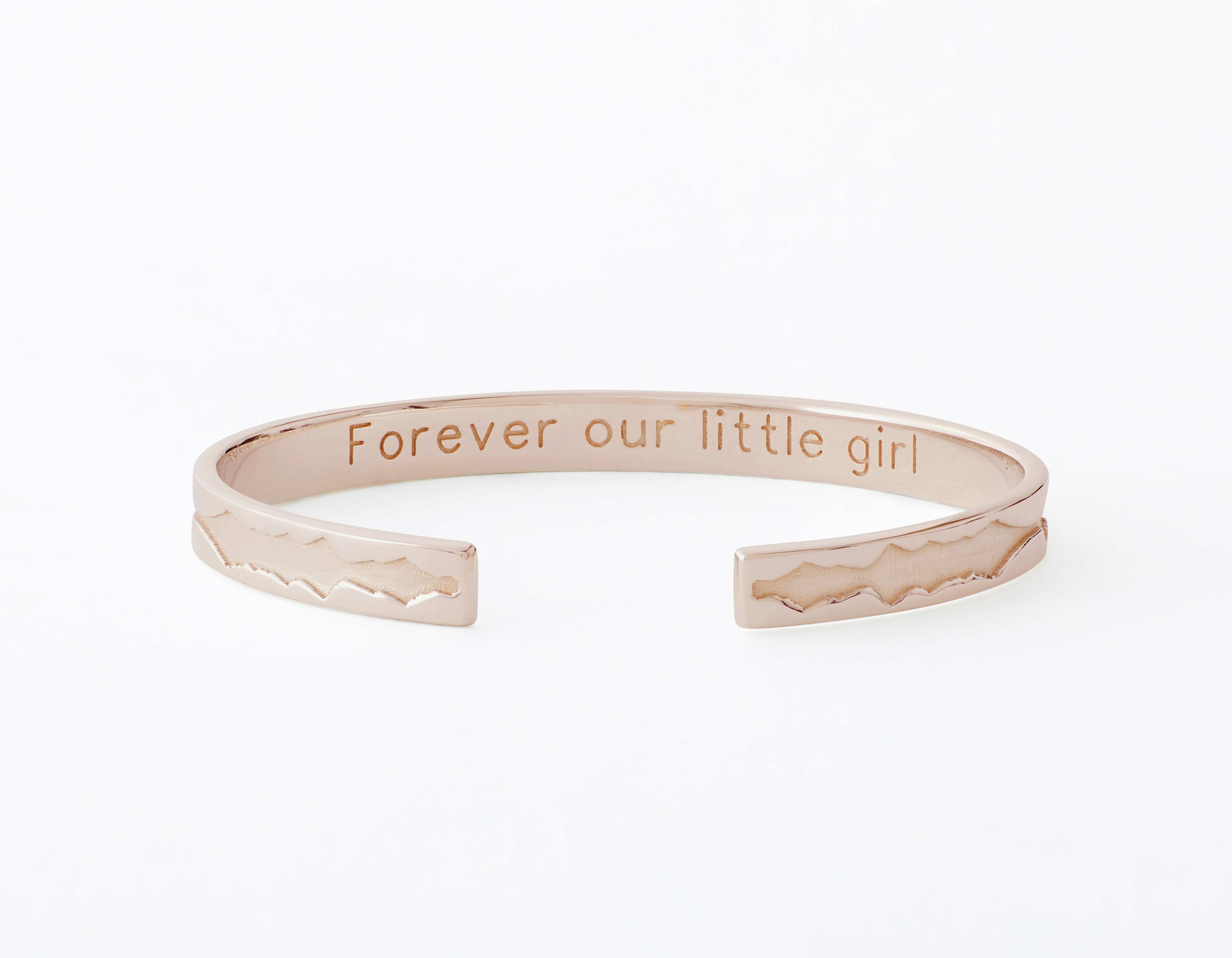 The Outer Wave Bracelet placed horizontal-inner in Rose Gold