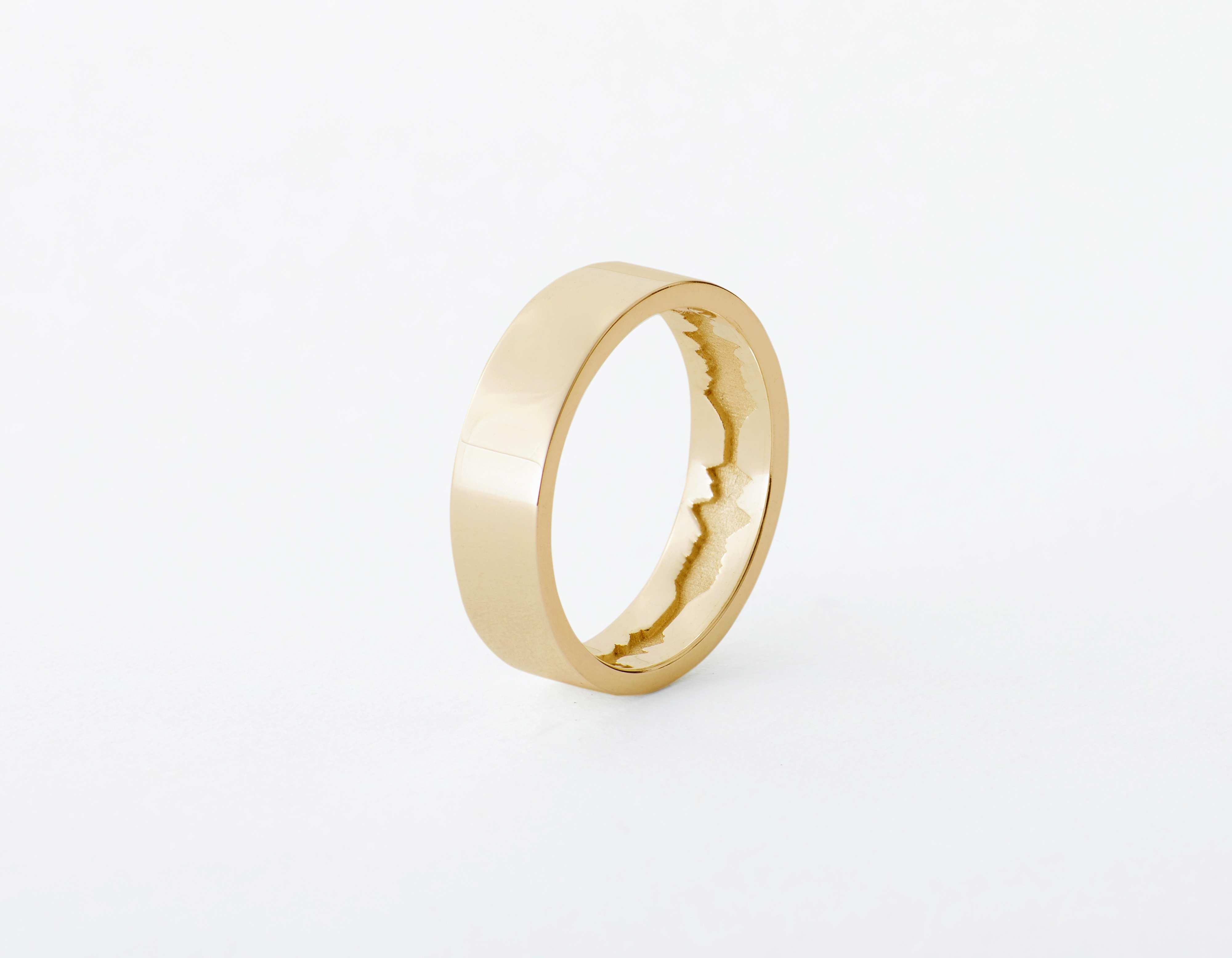 The Inner Wave Ring placed vertical in 14-Karat Gold thumbnail